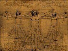 The golden ratio and Leonardo da Vinci - Vitruvio man Most Expensive Book, Human Anatomy Picture, Mirror Writing, Divine Proportion, Sacred Architecture, Golden Ratio, Learning Italian, Mirror Image, Sacred Geometry