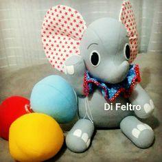 Elefantinho com balões