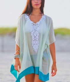 Summer women Lace beach cover up