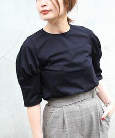 FIGARO Paris(フィガロ パリ)の「トリコットパフスリーブプルオーバー◆(Tシャツ/カットソー)」|ネイビー