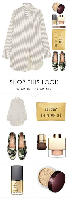 """""""Oh Friday let me hug you"""" by thestyleartisan ❤ liked on Polyvore featuring Adeam, T-shirt & Jeans, NARS Cosmetics, Laura Mercier and Flawless by Friday"""