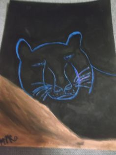 Unique Panther Abstract Acrylic Painting Handmade Wall by missy69