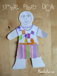 Mama Pea Pod: {Simple Paper Doll Craft}