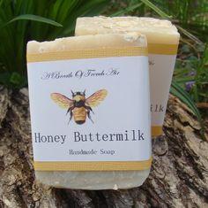 Honey Buttermilk  Soap Natural Sweet Honey and Cream added for extra moisturizing via Etsy