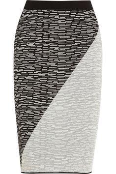 Jonathan Simkhai|Intarsia jersey pencil skirt|NET-A-PORTER.COM
