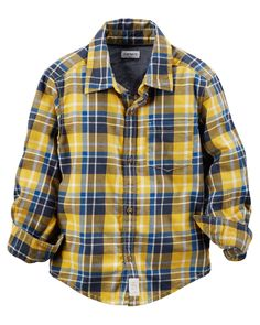 Toddler Boy Plaid Button-Front Shirt from Carters.com. Shop clothing & accessories from a trusted name in kids, toddlers, and baby clothes.