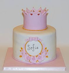 Princess Crown birthday cake by EvaRose Cakes