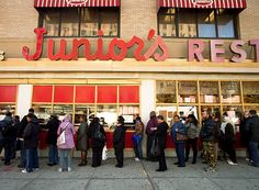 If you want the best cheesecake you'll ever eat, go to Junior's in New York.
