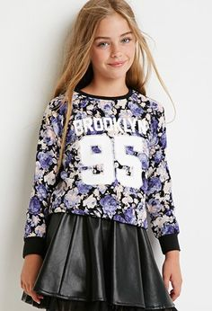 Brooklyn 85 Floral Sweatshirt (Kids) | Forever 21 girls - 2000174653