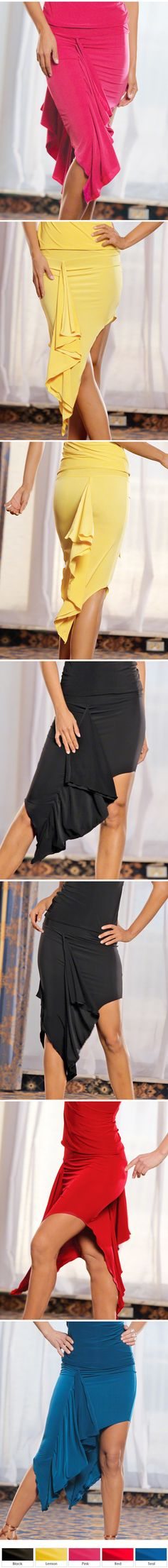Dance America S312 - Flounced Pencil Latin Skirt