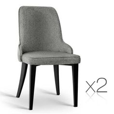 Chic MT Set of 2 Linen Fabric Dining Chair - Grey AU Dining Furniture Sets from top store High Back Dining Chairs, Gray Dining Chairs, Leather Dining Room Chairs, Fabric Dining Chairs, Contemporary Dining Chairs, Chair Fabric, Dining Chair Set, Modern Chairs, Leather Chairs