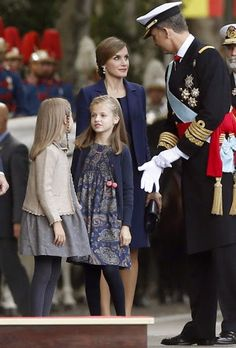 Spanish Royals attend National Day Military Parade 2015