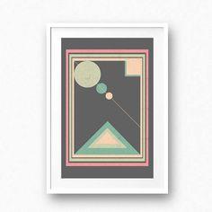 Geometric printable art Abstract wall art Modern print