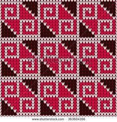 Knitted seamless pattern.                                                       …