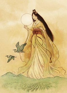 11 Sun Gods & Goddesses From World History Amaterasu Omikami, Art Japonais, Goddess Art, Divine Goddess, Beautiful Goddess, Gods And Goddesses, Chinese Art, Asian Art, Japanese Art