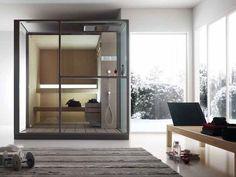 Sauna finlandesa com duche LOGICA SAUNA by EFFEGIBI | design Talocci Design