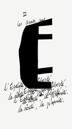 Formes Vives, affiches pour l'installation de la Déclaration des droits de l'Homme et du Citoyen de 1793 à l'Université populaire du 18e arrondissement, 50x90cm, impression tirage de plan, novembre 2009