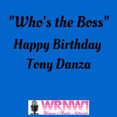Happy Birthday Tony Danza!  #wrnw1radio #tonydanza Happy Birthday Tony, Todays Birthday, Tony Danza
