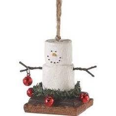 Midwest-CBK S'more in Jingle Bell Wreath Christmas Ornament