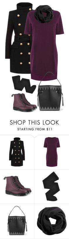 """Sans titre #3678"" by celyana ❤ liked on Polyvore featuring Balmain, Warehouse, Vegetarian Shoes, Gerbe, Alaïa and H&M"