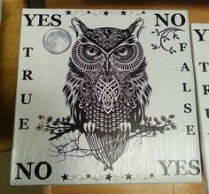 Pendulum Board Witchy Wise Owl Sprit board by OpenPathTreasures