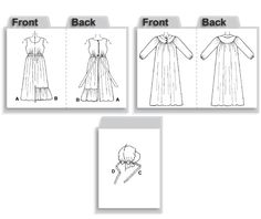 McCall's 9423 from McCall's patterns is a Pioneer Dress, Apron, Bonnet sewing pattern