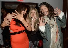 Who wore it better? Jewelry designer Laurie Lynn Stark, Fergie and Steven Tyler compare nail polish at a Chrome Hearts party on May 8 in Los Angeles