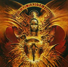Karol Bak was born in Kolo, Poland. From he studied at the State Schoo. African American Art, African Art, Surrealism Painting, Black Artwork, Fantasy Paintings, Afro Art, Black Women Art, Fantasy Women, Fantastic Art