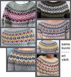 Fair Isle Knitting Patterns, Knit Patterns, Crochet Jacket, Knit Or Crochet, Icelandic Sweaters, Drops Design, Refashion, Knitting Projects, Stitch