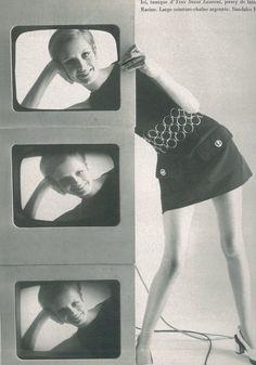 Twiggy in Yves Saint Laurent by Bert Stern for Vogue Paris April 1967 Sixties Fashion, 60 Fashion, Fashion Photo, Retro Fashion, Fashion Models, Vintage Fashion, Fast Fashion, Hijab Fashion, Alexa Chung