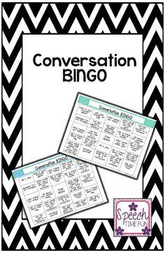 Speech Time Fun: Conversation BINGO!