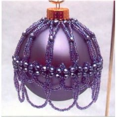 Purple Ornament Cover Pattern