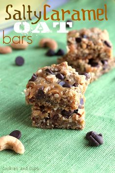 Salty Caramel Oat Bars