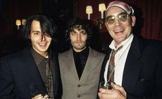 Writer Hunter S. Thompson, Johnny Depp and Vincent Gallo during the 25th anniversary of Fear and Loathing in Las Vegas