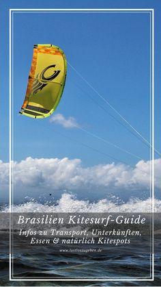 09.01.2019 - Du möchtest zum Kitesurfen nach Brasilien und bist auf der Suche nach den besten Kitespots oder Infos zu Unterkünften? Schau dir meinen Kitesurf Guide an!