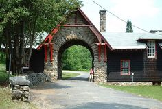 Santanoni arch of the Gate Lodge   Flickr - Photo Sharing!