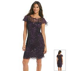 j kara long illusion beaded bodice dress