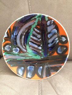 Poole Pottery Delphis Plate Mint Condition