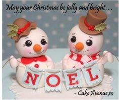cute snowmen cake avenue https://www.facebook.com/CakeAvenue