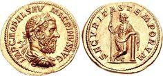 Macrinus. AD 217-218. AV Aureus (7.23 g, 6h). Rome mint, 5th officina. 2nd emission, 2nd phase, circa January-March, AD 218.