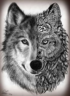 Stunning Wolf Tattoo design - I want Tattoo Tattoos Lobo, Wolf Tattoos Men, Tatuajes Tattoos, Bild Tattoos, Animal Tattoos, Leg Tattoos, Body Art Tattoos, Sleeve Tattoos, Tattoos For Women