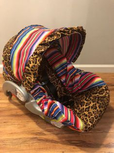 Excited to share this item from my shop: LEOPARD cheetah with fiesta serape stripes baby infant car seat Cover and visor with Free Monogram Baby Girl Car Seats, Infant Car Seats, Baby Girl Carseat Covers, Car Seat Cover Pattern, Baby Carrier Cover, Western Babies, Trendy Baby, Baby Fever, Future Baby