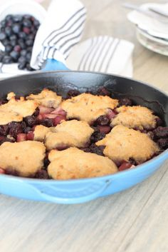 Stove to oven skillet cobbler (paleo, dairy-free)