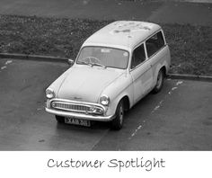 Blue & White Hillman Husky buying parts at the David Manners Group http://www.jagspares.co.uk/home.asp