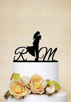 Hey, I found this really awesome Etsy listing at https://www.etsy.com/listing/211083254/initial-cake-topperwedding-cake-topper