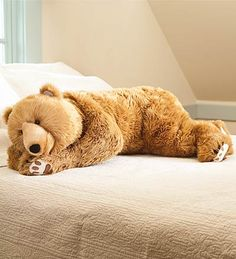 Giant body pillow for the kids! Teddy Bear Hug Body Pillow