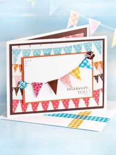 Celebrate You Paper Crafting Pattern Download from e-PatternsCentral.com -- Send a note of congratulations for any occasion with this easy-to-make card.