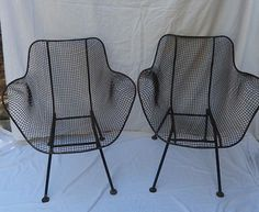 Attrayant Woodard Sculptura Wire Chairs, Black Eames Mid Century Modern Era