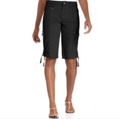 Black Bermuda Shorts NWT Tummy Control Mid Rise Bermuda Cargo Shorts. Style & Co Shorts Bermudas