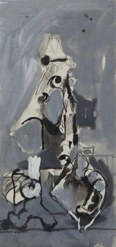 Artwork by Graham Sutherland, Untitled, Made of gouache on paper Magazine Art, Art Market, Gouache, Graham, Auction, Watercolor, Ink, Paper, Artist
